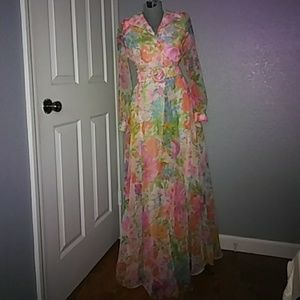 Vintage flowy floral gown